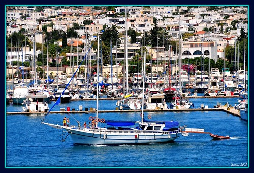 A gulet going out of Bodrum marina for her blue voyage trip | by yilenes