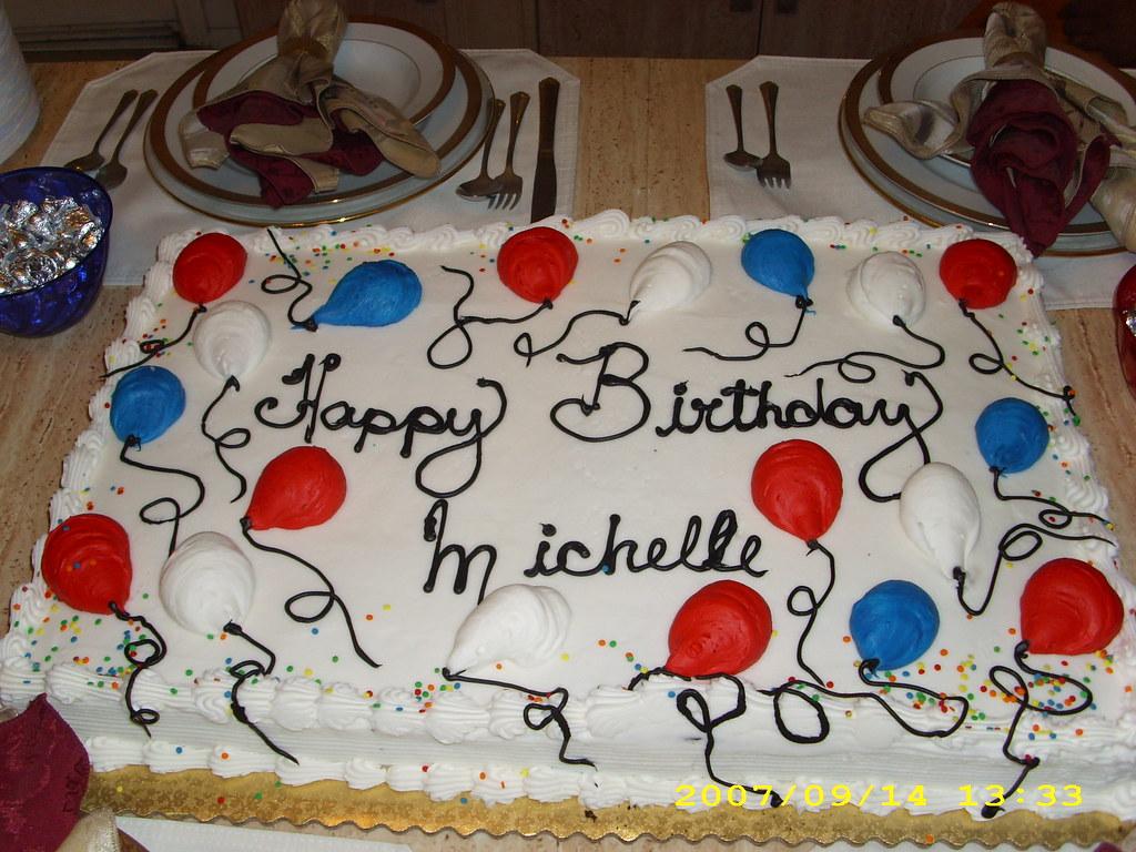 Jan 2008 Birthday Cake For Michelle Obama At Ty Edmonds H Flickr