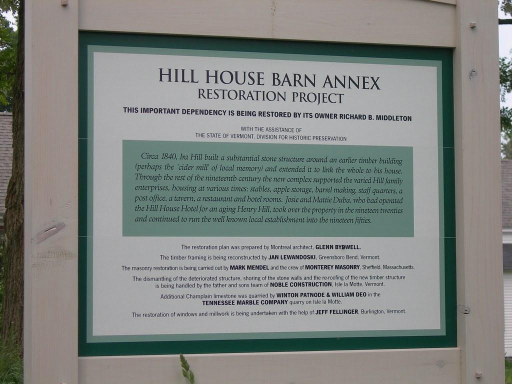Hill House Barn Sign | Isle La Motte, Vermont | Jimmy
