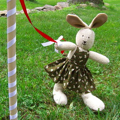 Bunnies Dancing around the Maypole | by www.rachaelrabbit.blogspot.com
