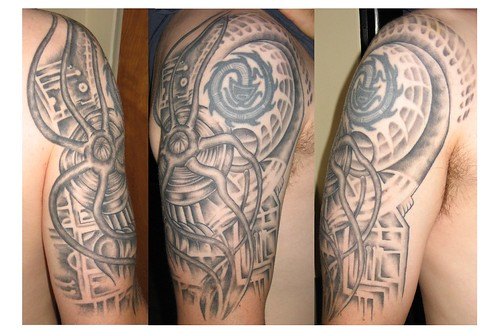 biomechanical tattoo sacred heart tattoo lincoln ne