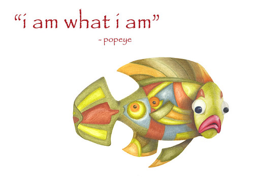 Green fish i am what i am popeye a wise old soul for What kind of fish am i