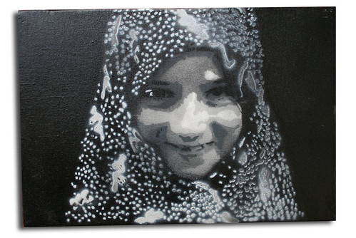 persian girl - stencil on canvas - icy | by -icy-