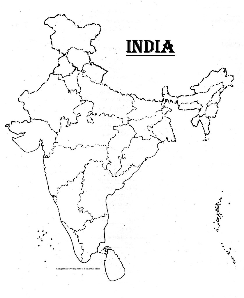 INDIA (BLANK MAP) | kpratikn | Flickr