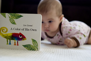 383 A baby and her book | by Evil Sivan