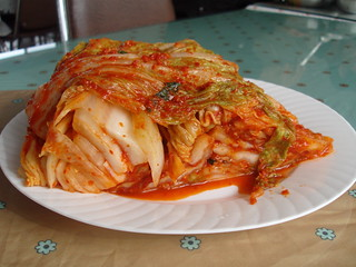 fresh kimchi that Mrs.Kang made. It was SO yummy that I can't wait to eat the kimchi Mrs.Lee (M's co-teacher) gave us...yay! | by hellaOAKLAND
