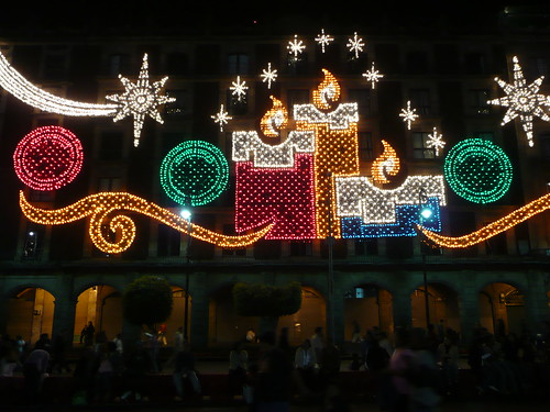 Christmas decorations around the mexico city zocalo flickr for Christmas decorations near me