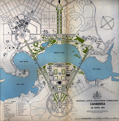 Canberra 39 S National Area 1962 The Ncdc Master Plan For