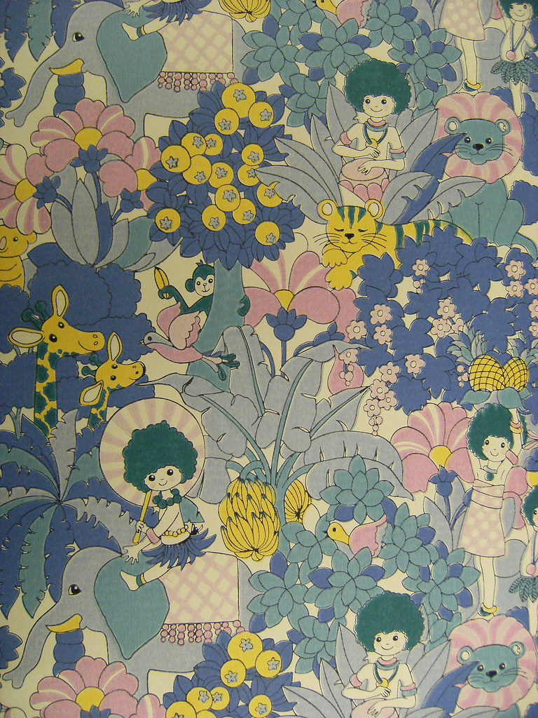 70s Childrens Wallpaper Design