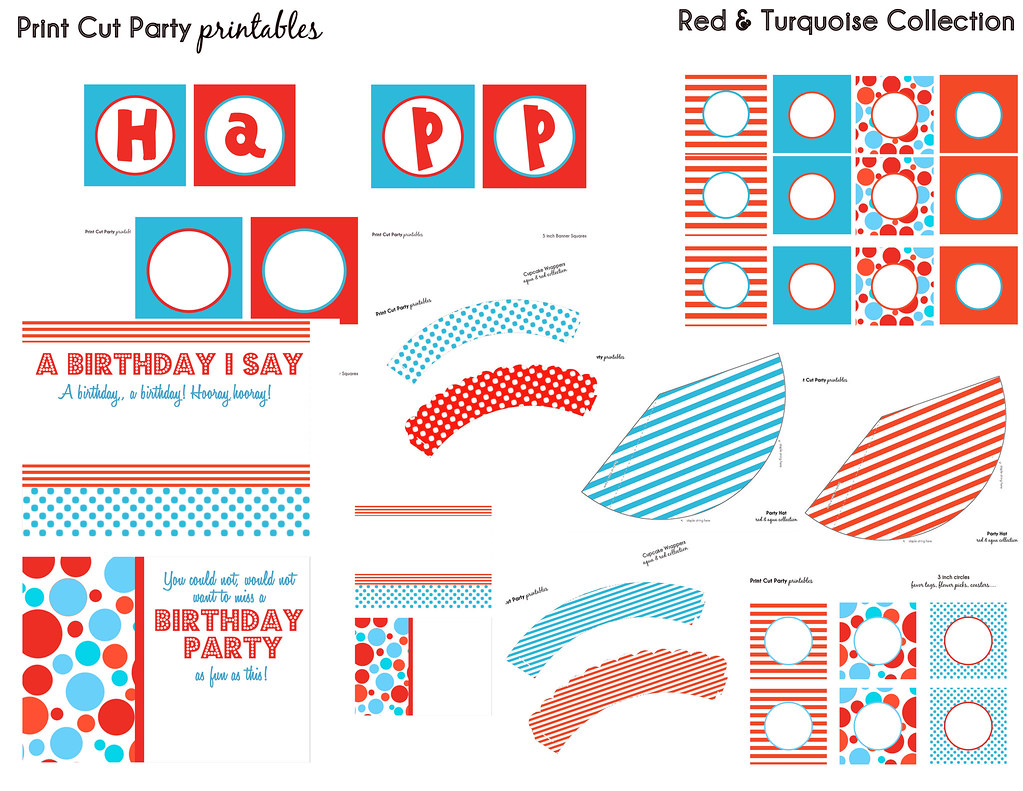 worksheet Dr Seuss Worksheets Printables red turquoise printable party set print cut flickr printables dr seuss