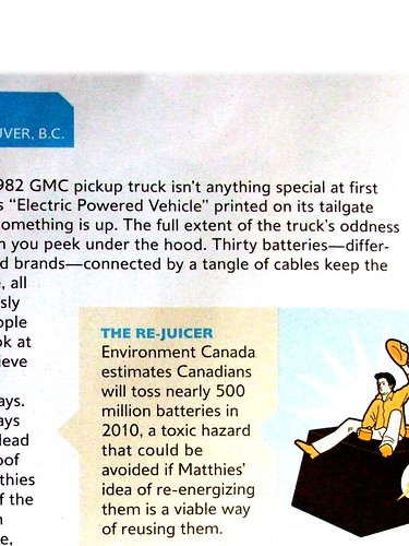 VANCOUVER GADGETEER INVENTION CHOSEN BY CANADIAN BUSINESS MAGAZINE | by Battery-Revivalist