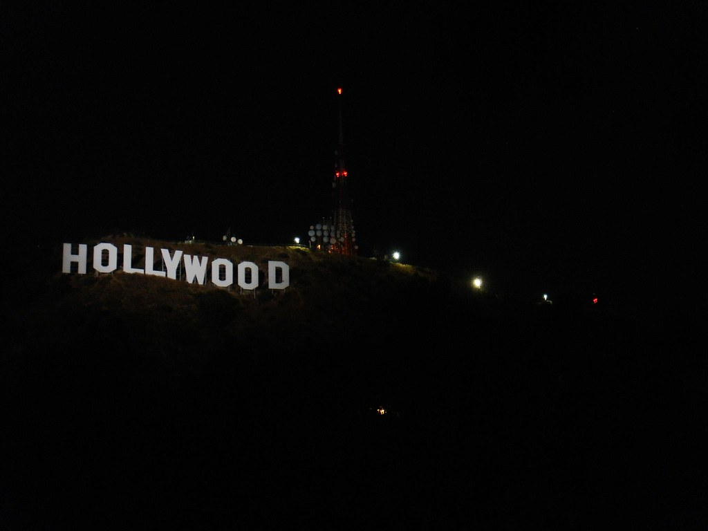 A RARE Photo Of The Hollywood Sign Lit Up At Night By Jeremiah Christopher