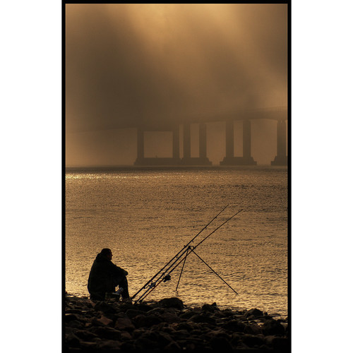 Fishing at the Second Severn Crossing, Sudbrook | by -terry-