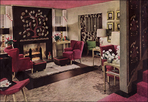 1943 world war ii era modern living room not your for Modern antique decor