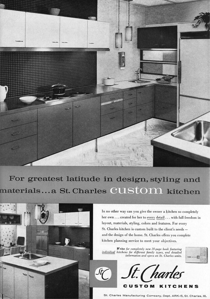 St. Charles Custom Kitchens Ad - 1959 | MidCentArc | Flickr