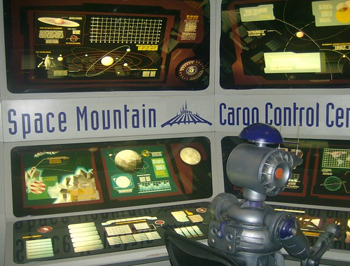 Space Mountain Exit Display | by Rivetwolf