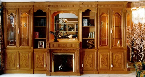 Muebles y boiserie mueble de sal n a medida fabricado - Armarios para el salon ...