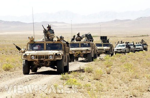 special forces and afghan army convoy by dear john art dept