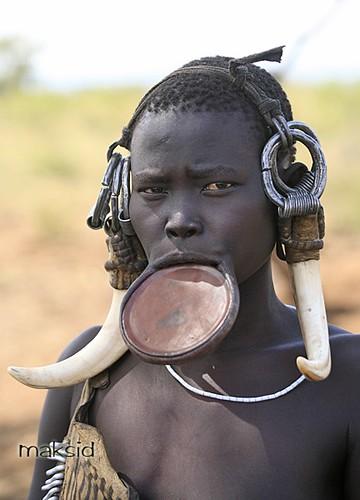 Omo Valley People - Mursi Tribe Editorial Stock Photo - Image ...