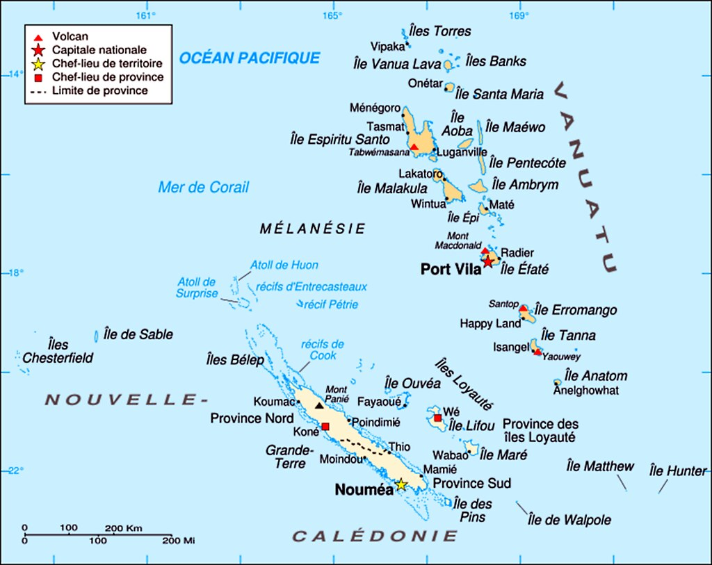 A01 VanuatuNew Caledonia Map Map of Mlansian area wit Flickr