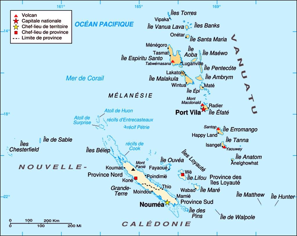 A VanuatuNew Caledonia Map Map Of Mélanésian Area Wit Flickr - New caledonia map