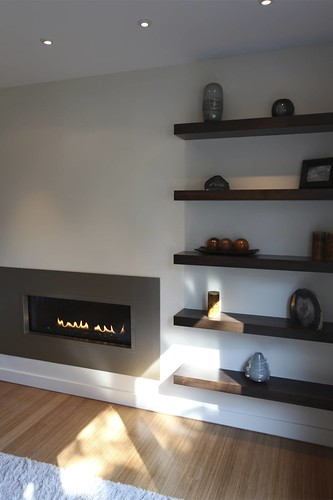 how to get a fireplace black