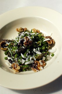 raw asparagus salad with toasted walnuts and mizithra cheese | by shauna | glutenfreegirl