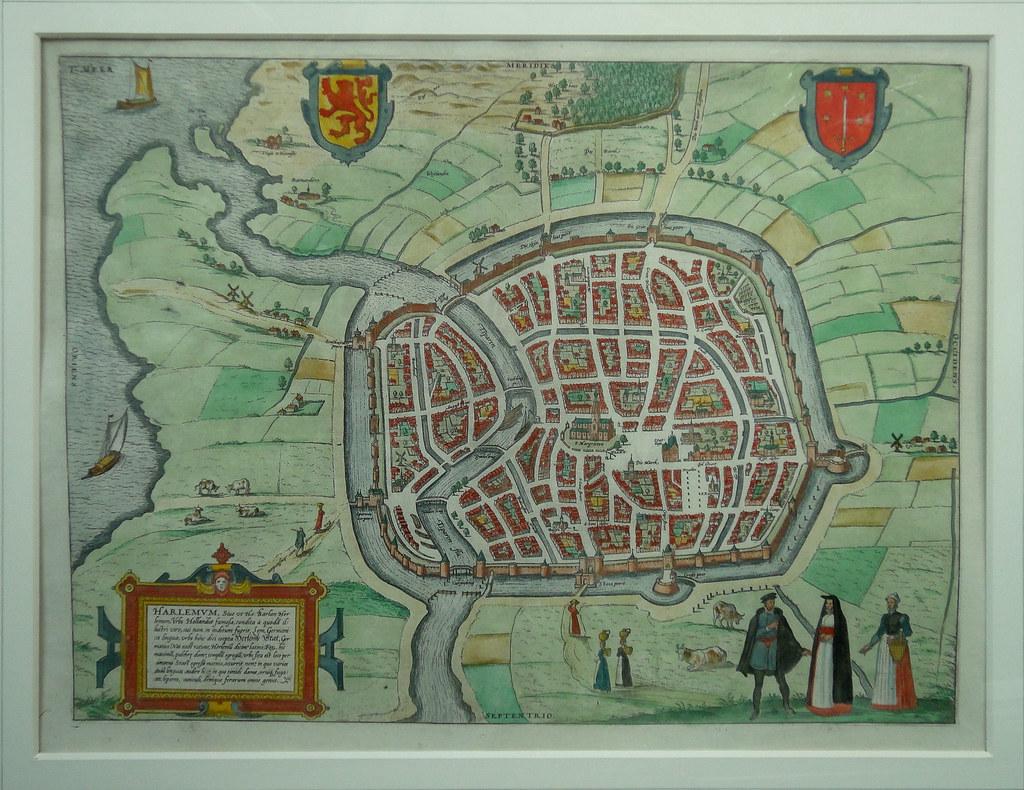 Haarlem map - 16th century | Jim Forest | Flickr