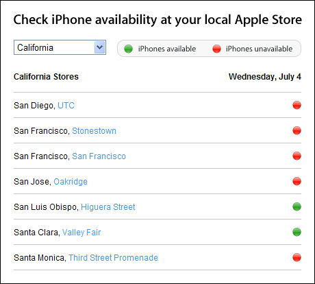 Apple iPhone Availability | by Wufoo