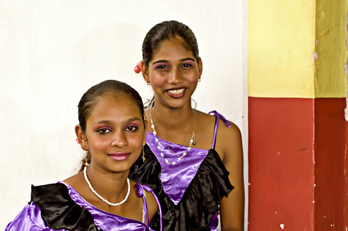 In Goa, waiting their turn for the Dance. Portrait of 2 Dancers at Bonderam in Diwar | by Anoop Negi