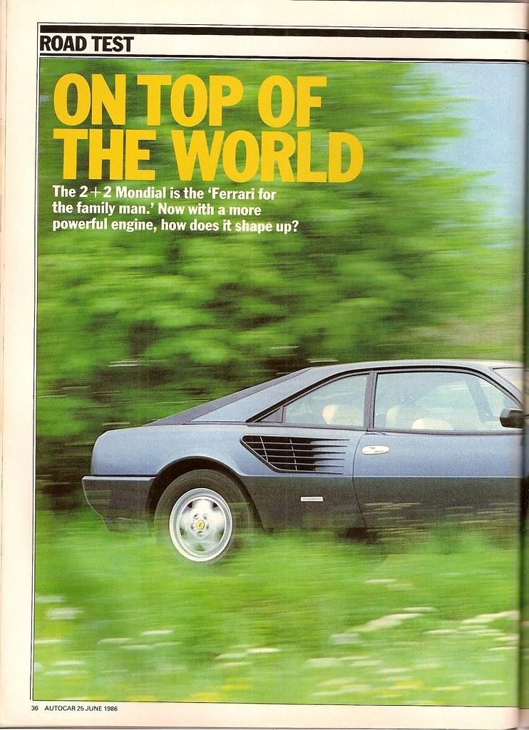ferrari mondial 3 2qv road test 1986 flickr. Black Bedroom Furniture Sets. Home Design Ideas