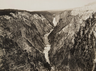 Untitled (Grand Canyon of the Yellowstone with Lower Falls in the distance) | by Museum of Photographic Arts Collections