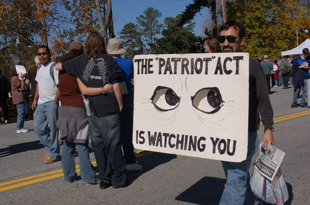 Image result for patriot act watching you