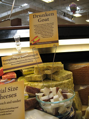 Drunken goat cheese at the Cheese Shoppe in the Madison Kroger