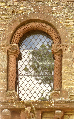 Kilpeck, Herefordshire, church of St. Mary and St. David, west window | by groenling