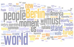 Wordle: Barack Obama Berlin Speech: 'A World That Stands As One' | by planspark