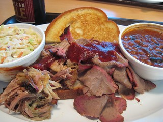 Oklahoma Joe's Barbeque Brisket and Pulled Pork | by lesley zellers