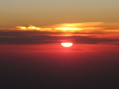 View of the rising sun at 35,000 feet | by peggyhr