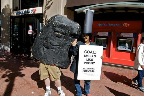 Coal smells like profit - Bank of America protest | by Steve Rhodes