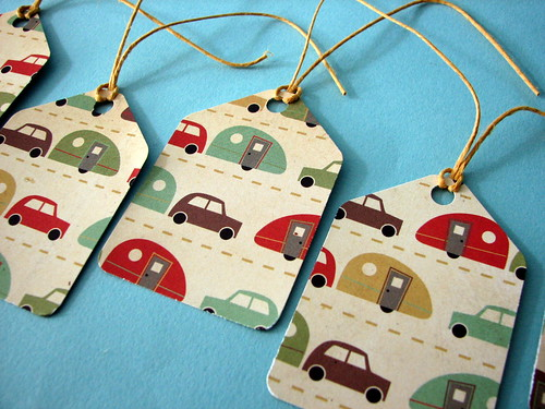Kitschy Car & Trailer gift tags | by glamourfae