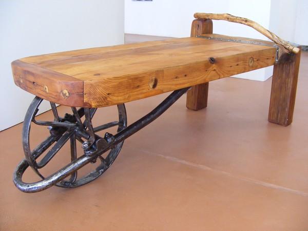 Wheelbarrow Bench Coffee Table Riek Creative Flickr - Wheelbarrow coffee table
