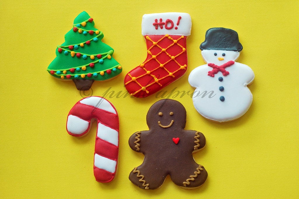 decorated christmas cookies by pink_apron decorated christmas cookies by pink_apron