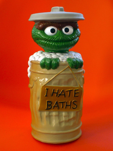 oscar the grouch shampoo bottle | by j_pidgeon