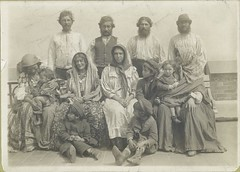 Group photograph captioned 'Hungarian Gypsies all of whom we... | by New York Public Library