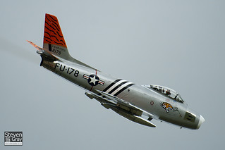 G-SABR - 8178 - FU-178 - 151-43547 - Golden Apple Operations LTD - North American F-86A Sabre - Duxford - 110522 - Steven Gray - IMG_7401 | by StevenRGray.co.uk / Stevipedia.co.uk