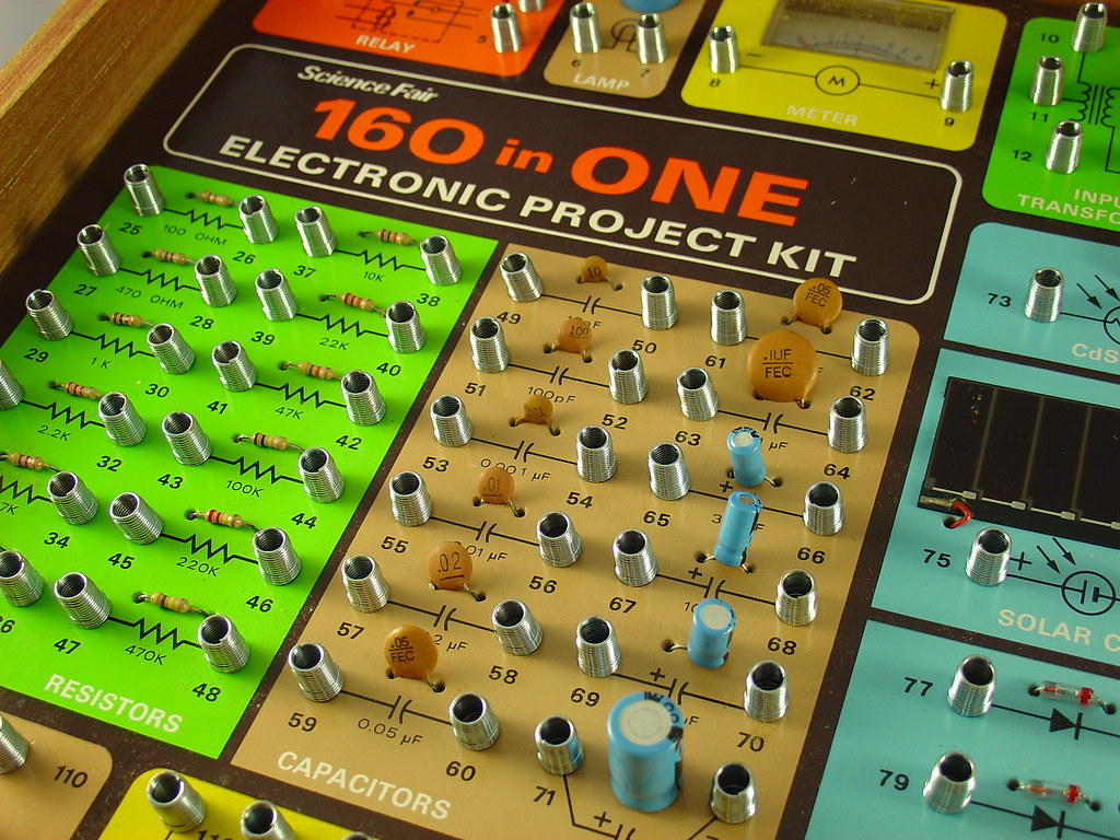 ... Science Fair 160 in ONE Electronic Project Kit   by mightyohm