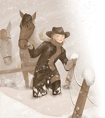 """A Path Through the Snow"" part 3 - full page magazine illustration 