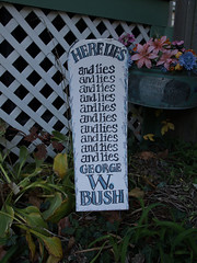 George W Bush Gravestone The Republican Neighbors Didn T Flickr