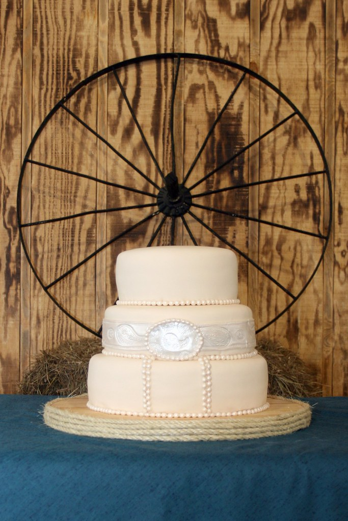 Kim In CajunCountry Country Western Themed Wedding Cake