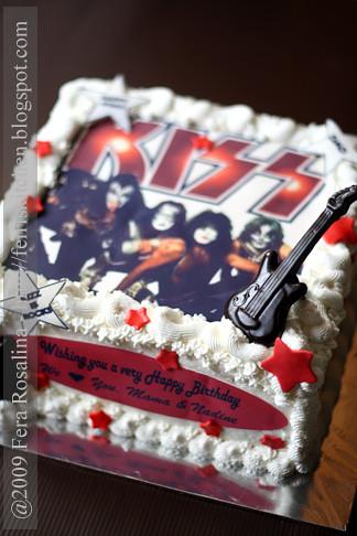 Kiss Rock Band S Birthday Cake Theme Fera Rosalina Flickr
